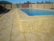 Бортовой камень (копинг) для отделки бассейна