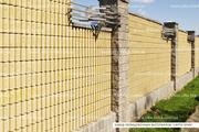 Блок декоративный канелюрный (заборный) - foto 0