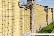 Блок декоративный канелюрный угловой (заборный) - foto 0