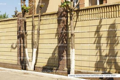 Блок декоративный канелюрный (заборный) - main