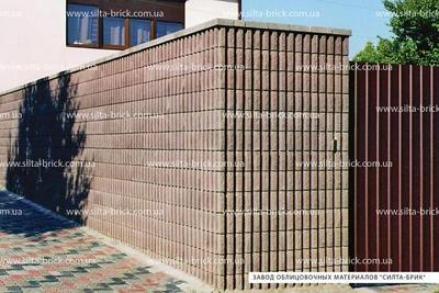 Блок декоративный канелюрный угловой (заборный) - main