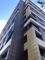 Фасад навесной вентилируемый,  кассеты с утеплением